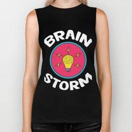 Problem Solving or Brainstorming Tshirt Design Brain storm Biker Tank