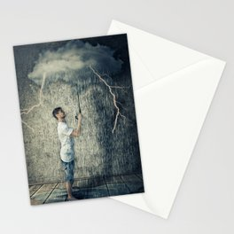 umbrella cloud Stationery Cards