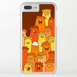 Pile of Clucks Clear iPhone Case