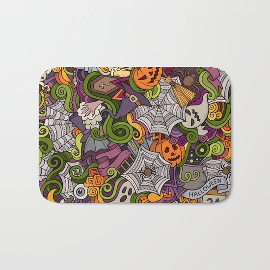 happy halloween bath mat - Halloween Bath Towels