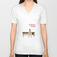 forrest V-neck T-shirts featuring FORREST GIMP by Ian O'Hanlon