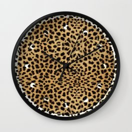 Cheetah Print Wall Clock
