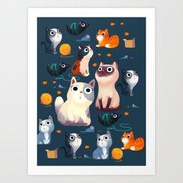 Cat Print Art Print