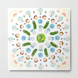 Rick & Morty Mandala Metal Print