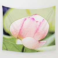 lotus flower Wall Tapestries featuring Lotus by Karl-Heinz Lüpke