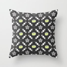 Hanami Nummies   Black Matcha Throw Pillow