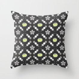 Hanami Nummies | Black Matcha Throw Pillow