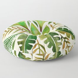 Tropical Symmetry – Olive Green Floor Pillow