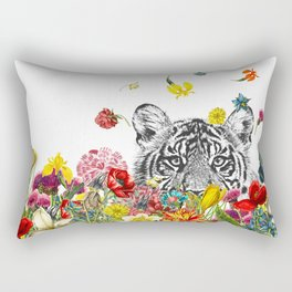 Happy Tiger Rectangular Pillow