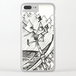 Bill Cipher Clear iPhone Case