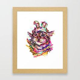 Quirky Cat Framed Art Print