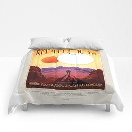 Kepler-16b - NASA Space Travel Poster Comforters