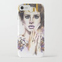 lana iPhone & iPod Cases featuring Lana by Kim Morrow