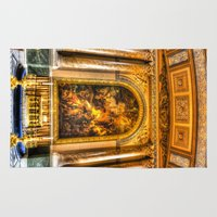 college Area & Throw Rugs featuring Royal Naval College Greenwich  by David Pyatt