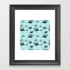 Blue Ducks Framed Art Print