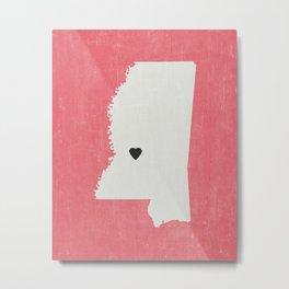 Mississippi Love Metal Print