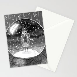 The Girl in the Snow Globe Stationery Cards