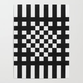 Interwoven Stripes Poster