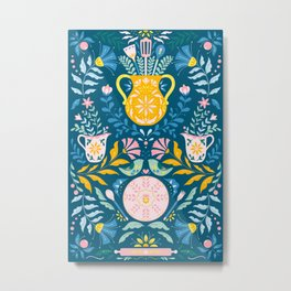 Folk floral kitchen Metal Print