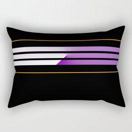 TEAM COLORS 5....Orange,purple Rectangular Pillow
