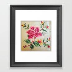 vintage embroidery Framed Art Print