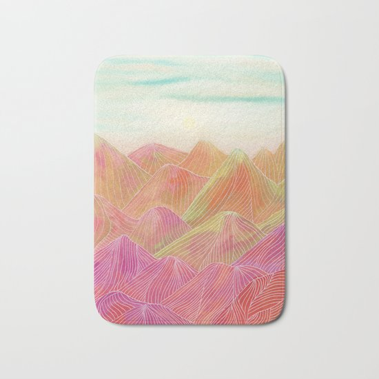 Lines in the mountains XVIII Bath Mat
