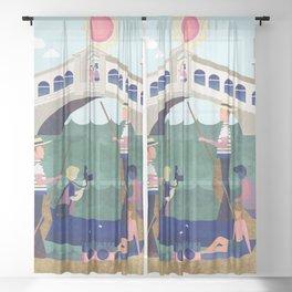 Venice Italy 6 Sheer Curtain