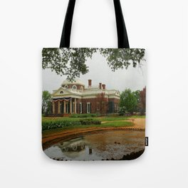 Morning At Monticello - Jeffersons Home Tote Bag