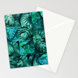 Plant collage XI Stationery Cards