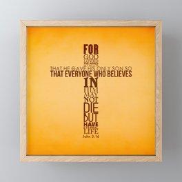 John 3:16 Framed Mini Art Print