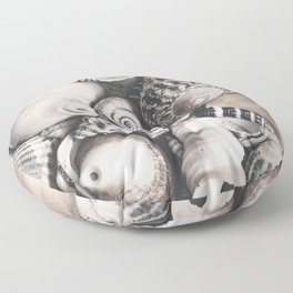 Sea Shell Collection Vintage Style Floor Pillow