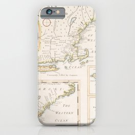 Antique Map North America  iPhone Case