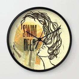 Swim Deep Wall Clock