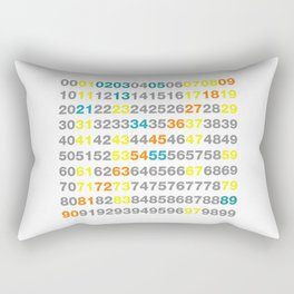 Numbers Rectangular Pillow