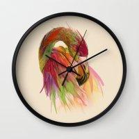 birds Wall Clocks featuring birds  by mark ashkenazi