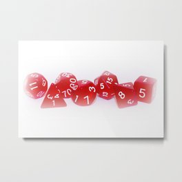Red Gaming Dice Metal Print