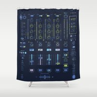 nicki Shower Curtains featuring DJ Mixer by Sitchko Igor