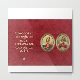 Sacred Heart Red Metal Print