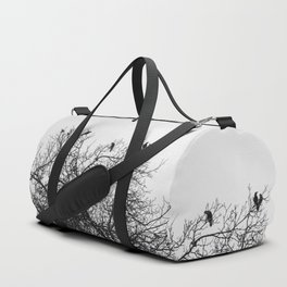A murder of crows sitting in a tree Duffle Bag