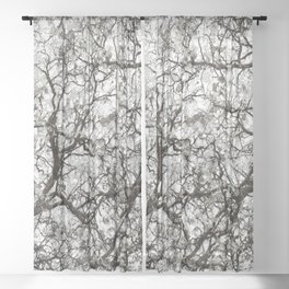 Winter Hunter Camouflage Sheer Curtain