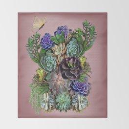 Succulent gardens Throw Blanket