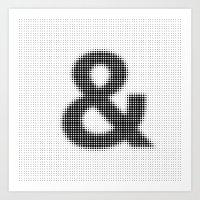 Halftone Ampersand Sans Serif Art Print