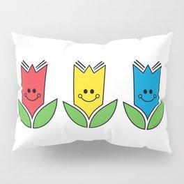 Flowers Of Primary Colors - Fleurs Aux Couleurs Primaires Pillow Sham