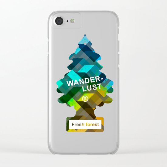Wunderbar forests Clear iPhone Case