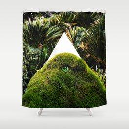 Arcana Academy - green triangle Shower Curtain