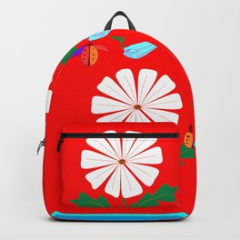 Summer Daisies, Dragonflies, Lady Bugs and the Sun Backpack