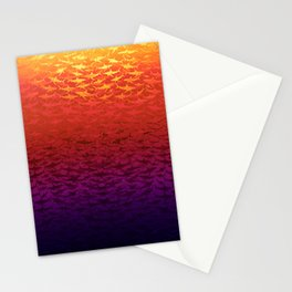 Sharks At Sunset Stationery Cards