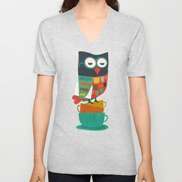 Morning Owl Unisex V-Neck