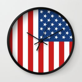 United States Flag Wall Clock