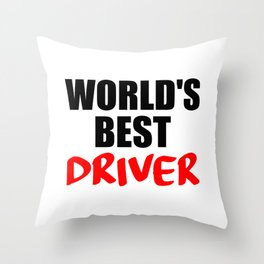 worlds best driver funny saying Throw Pillow